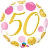 Pallone 50 anni pois rosa & oro