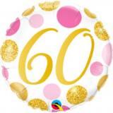 Pallone 60 anni pois rosa & oro