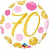 Pallone 70 anni pois rosa & oro