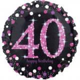 Pallone 40 anni sparkling fucsia