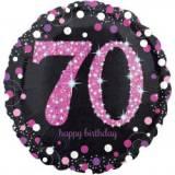 Pallone 70 anni sparkling fucsia