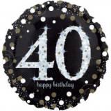 Pallone 40 anni sparkling oro & argento