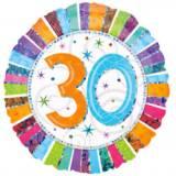 Pallone 30 anni iridescente