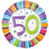 Pallone 50 anni iridescente