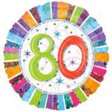 Pallone 80 anni iridescente