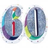 Pallone 60 anni oleografico doppio
